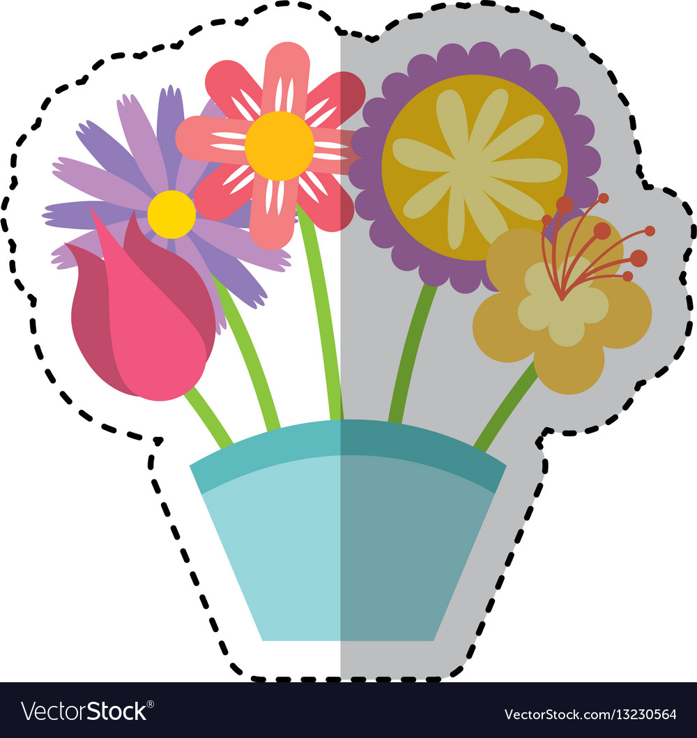 Cute bouquet of flowers nature icon royalty free vector cute bouquet of flowers nature icon vector image izmirmasajfo