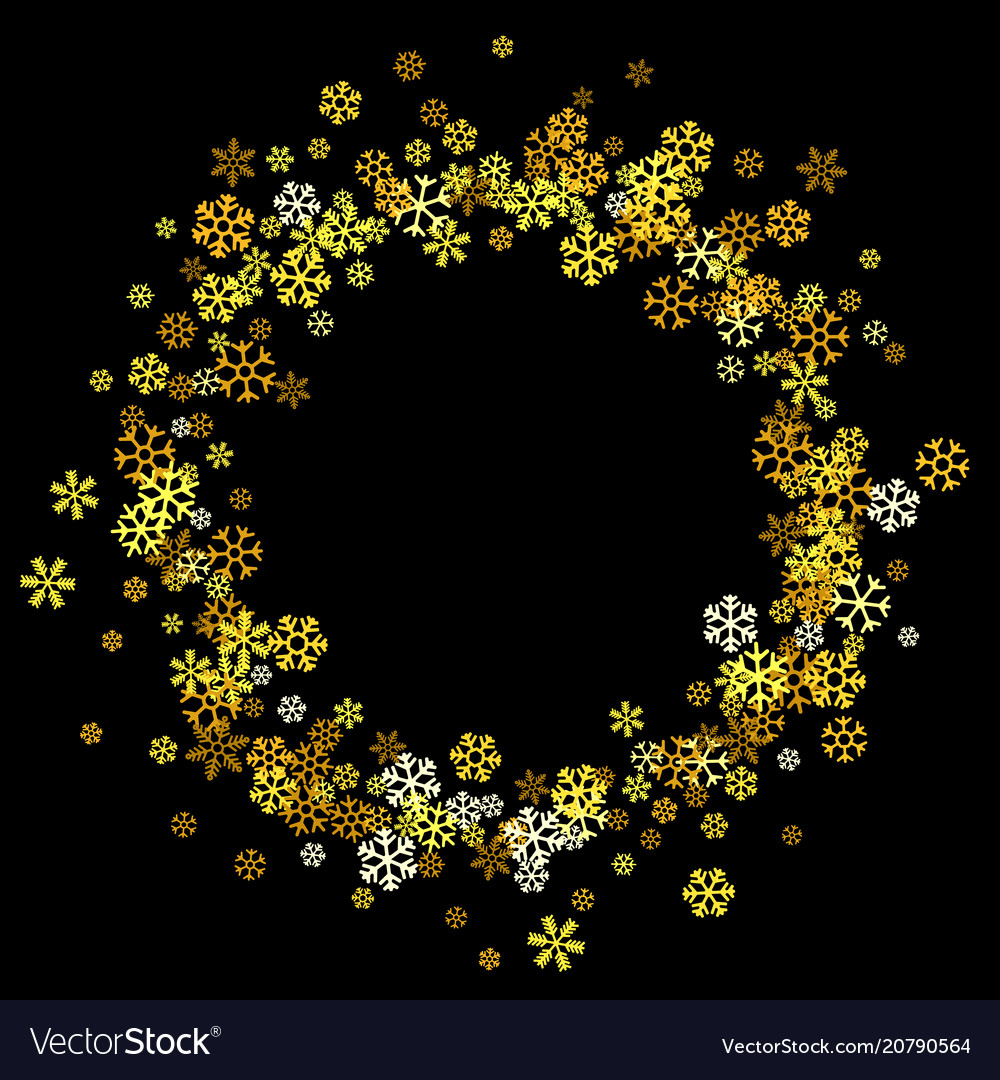 a709d7b08e2 Frame or border of random scatter snowflakes Vector Image