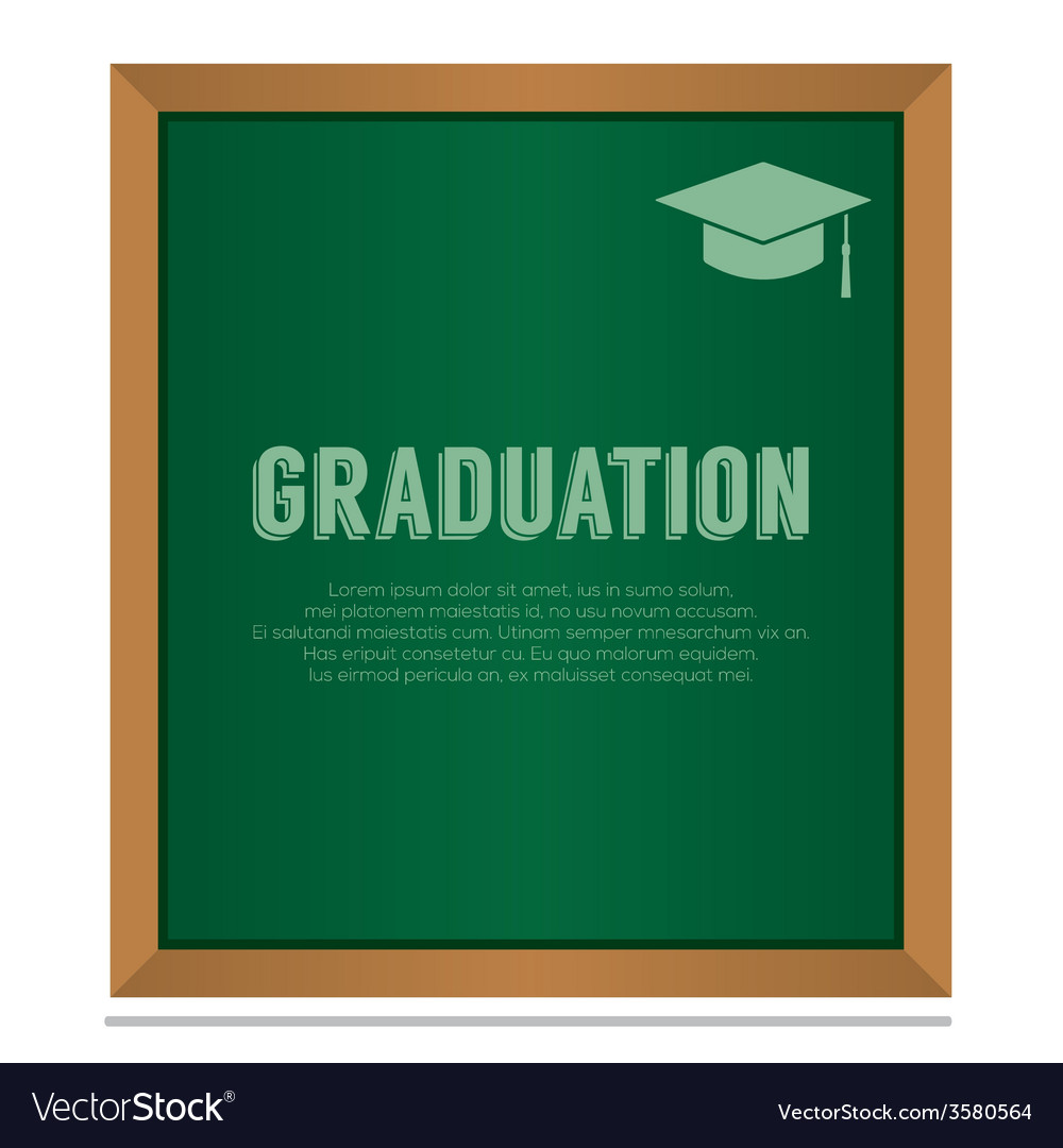 Graduation On Board Education Concept