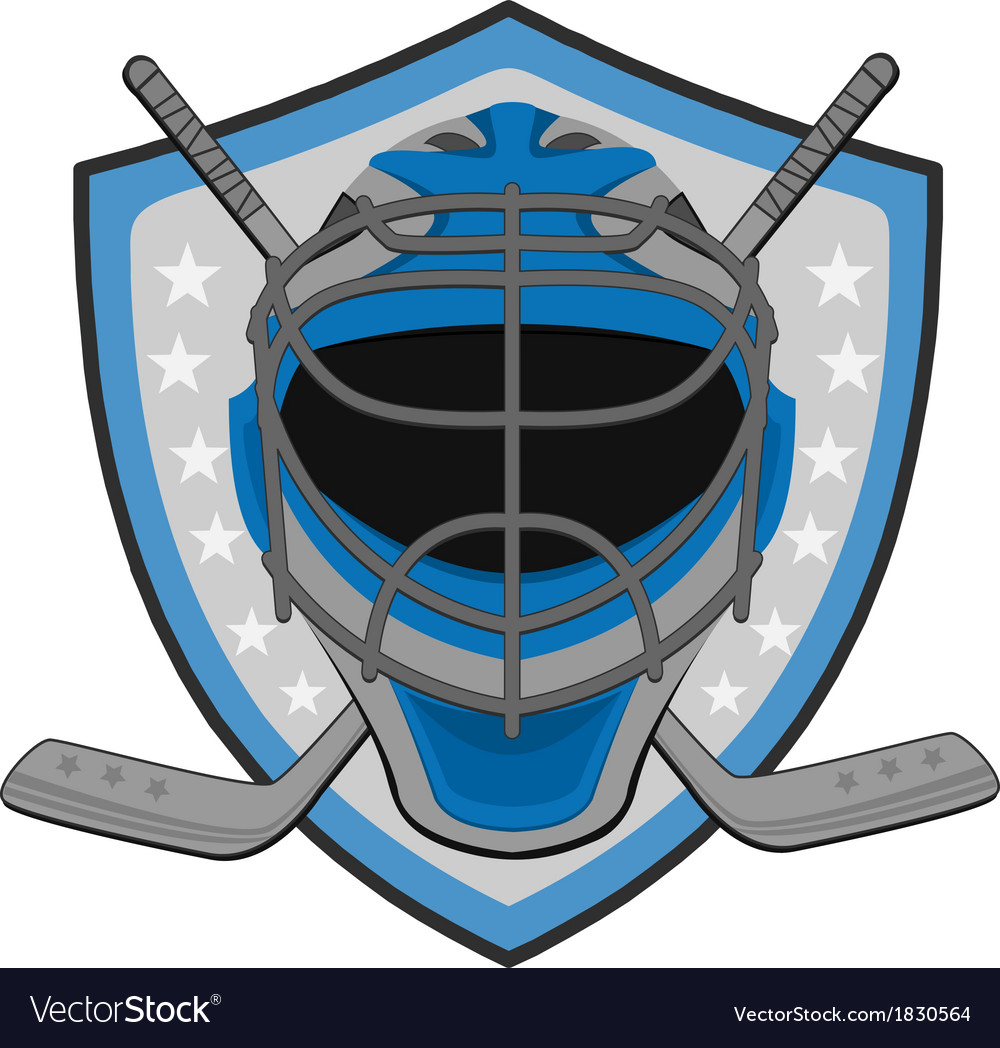 Ice hockey labels badges vector image