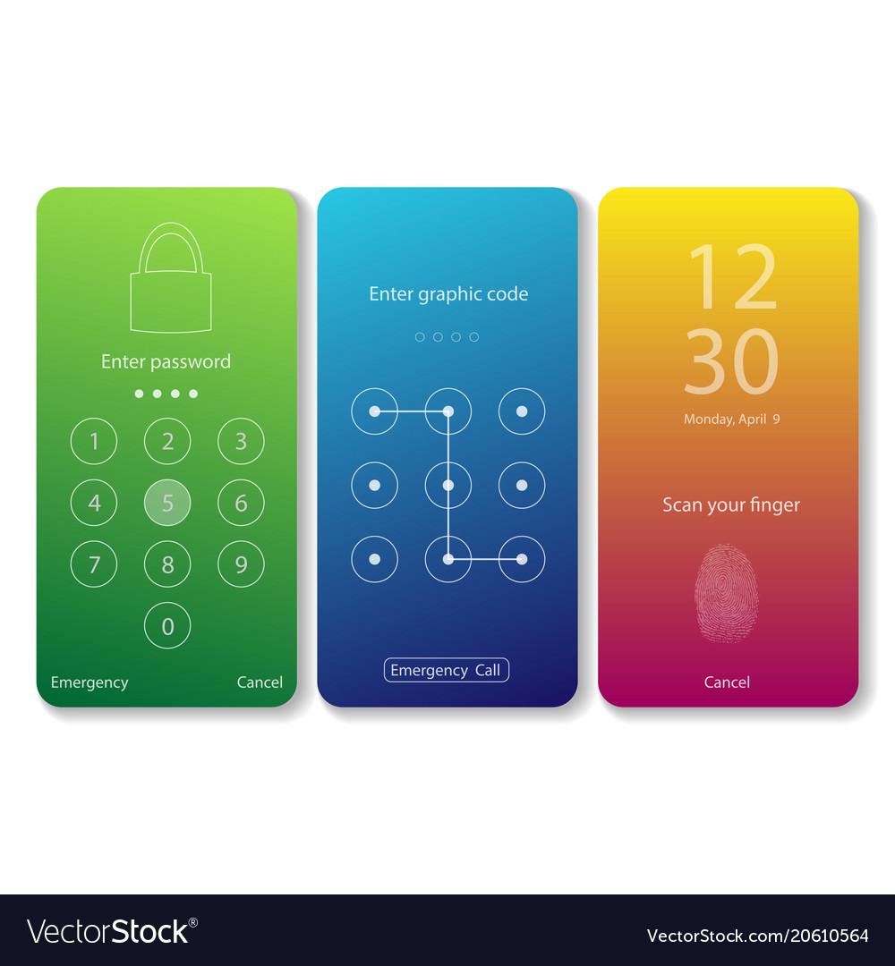 Mobile screen locks