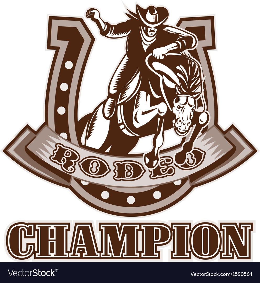 NX cowboy horse jumpingfront HORSEHOE
