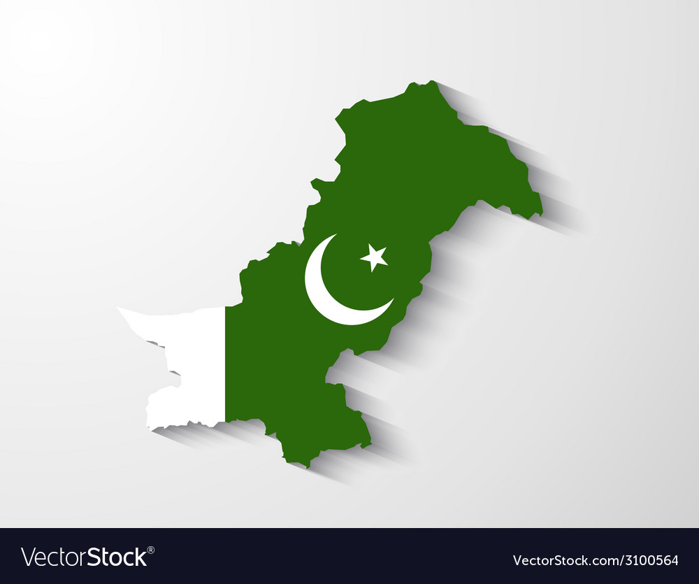 Pakistan map with shadow effect presentation
