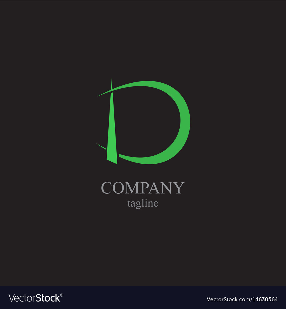 The letter d logo - a symbol of your business vector image