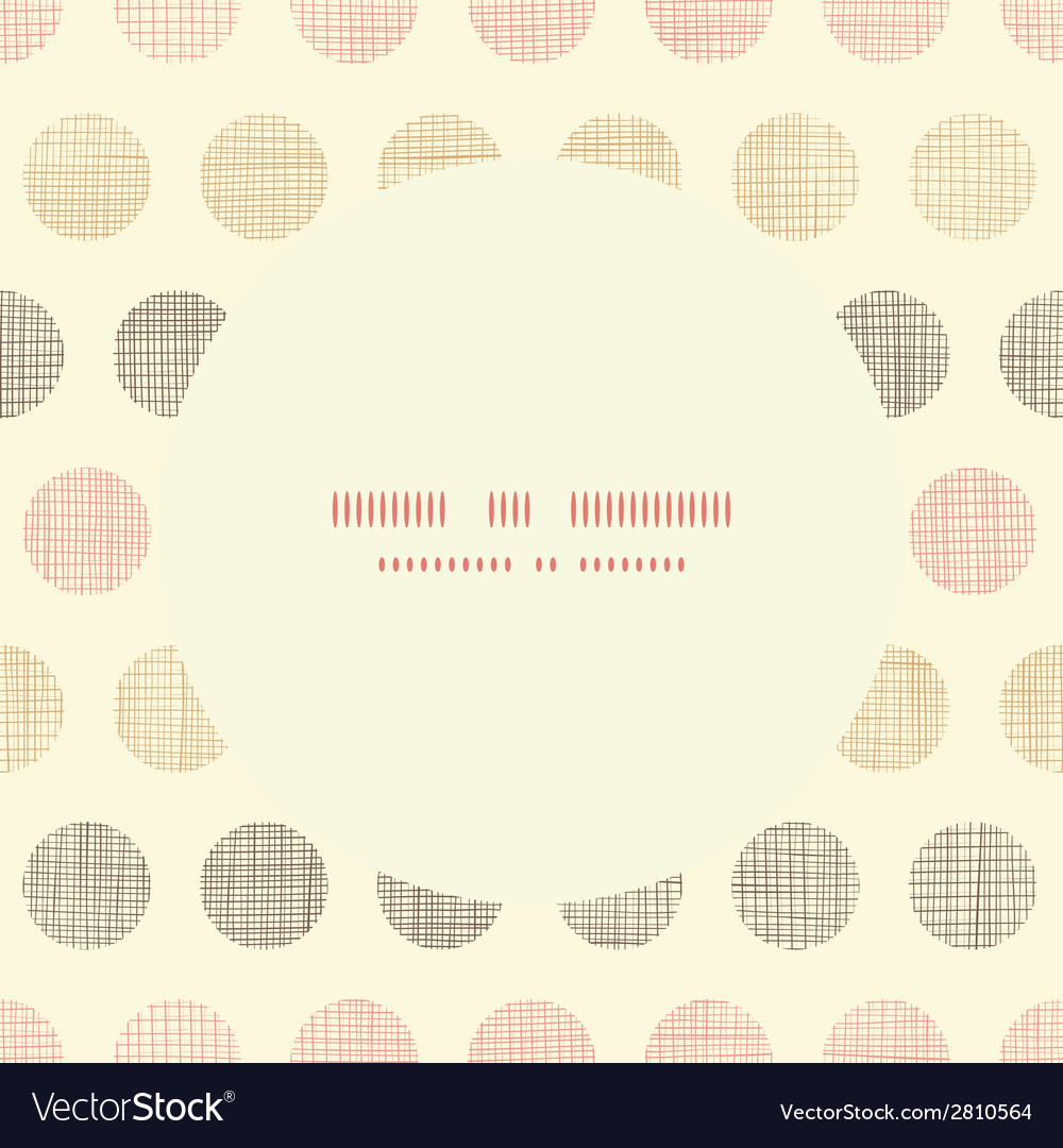 Vintage textile polka dots oval frame seamless