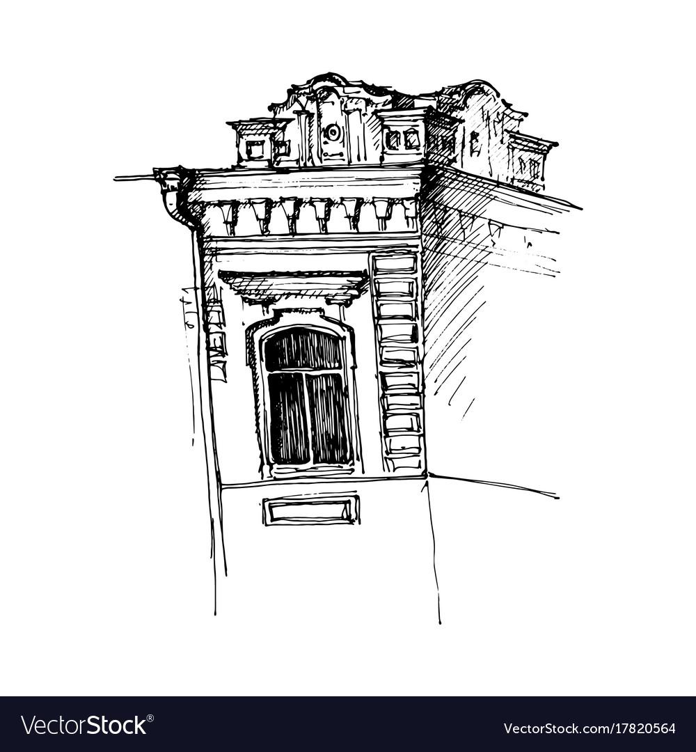 Window of mansion