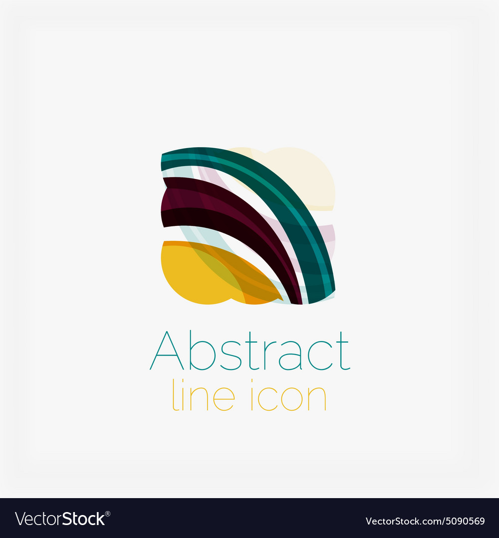 Abstract symmetric geometric shapes business icon