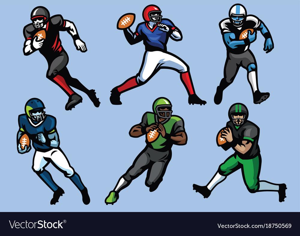 American football player set