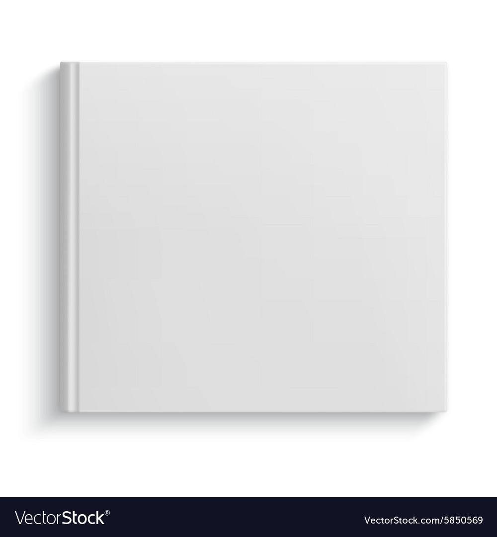 Blank hardcover album template vector image