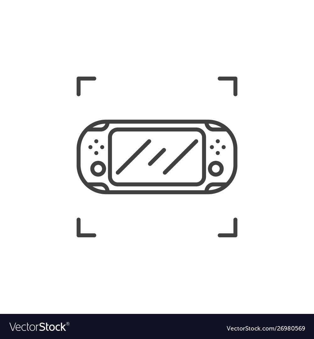 Handheld game console outline