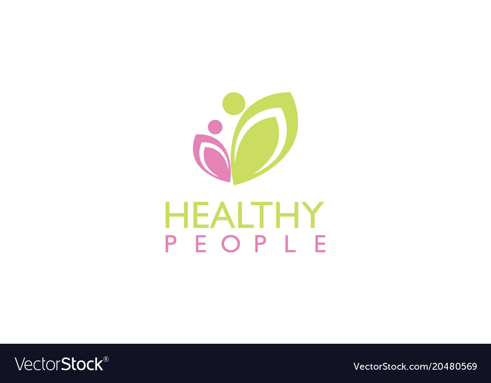 Healthy people beauty logo