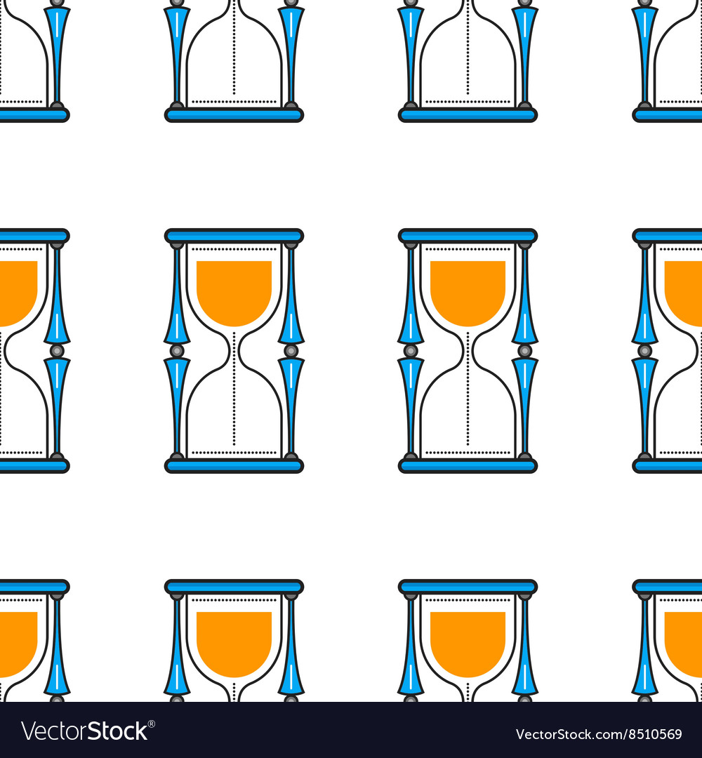 Hourglass Seamless pattern Flat color icon