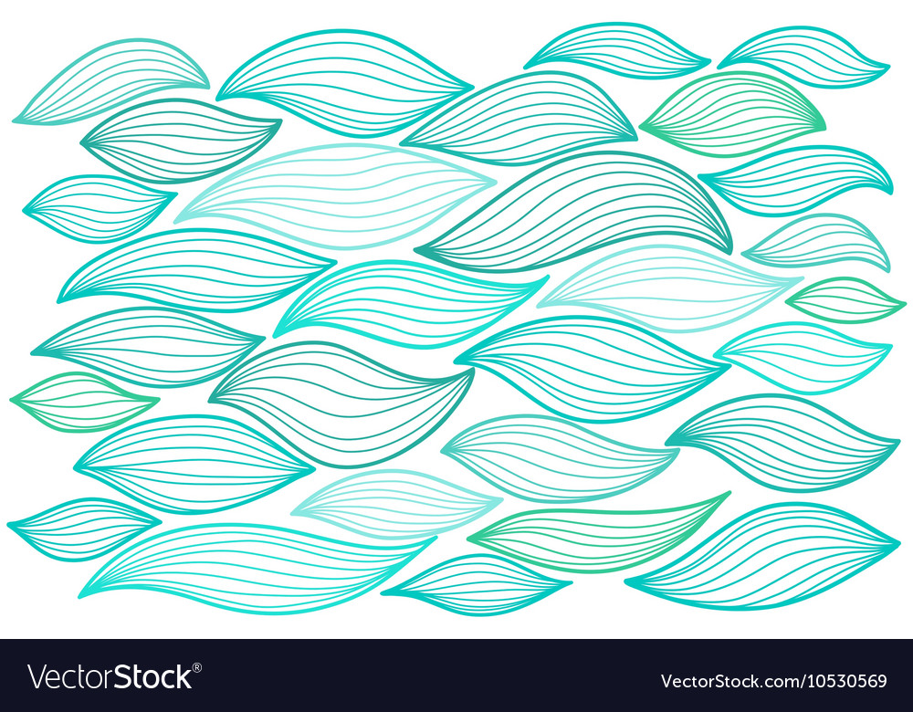 Sea waves Elements for design