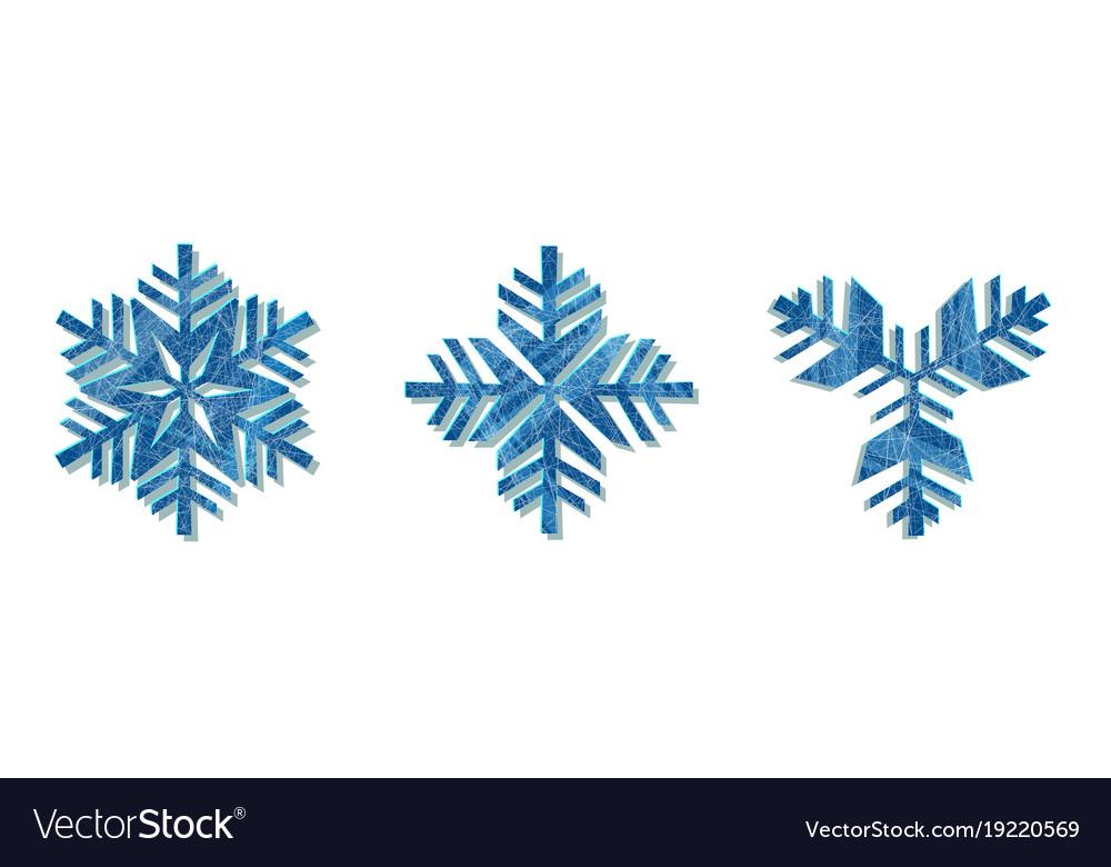 Snowflake icon background set white color