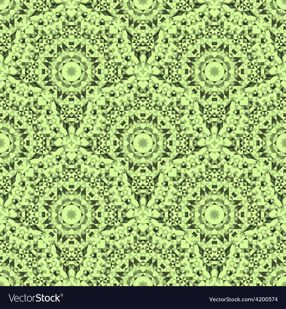 Abstract Seamless Light Green Geometric Pattern vector image