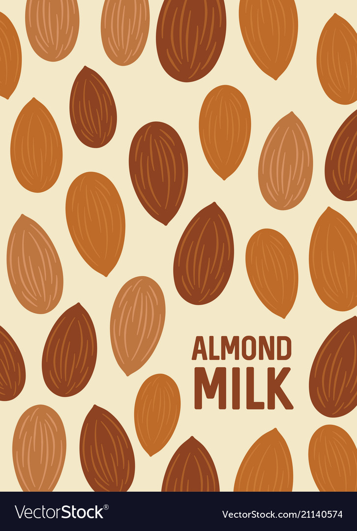 Almond nut background seeds of the tree