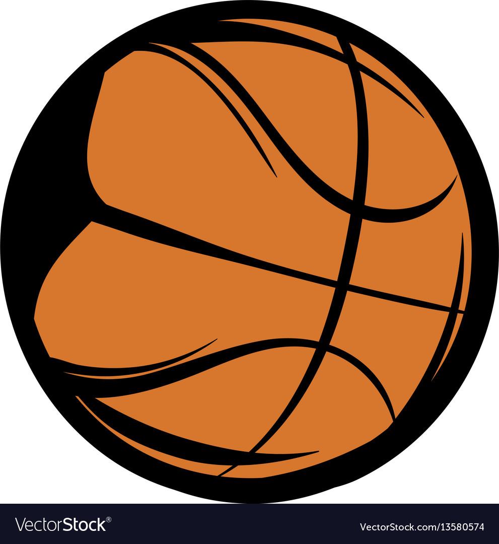 Basketball Icon Cartoon Royalty Free Vector Image