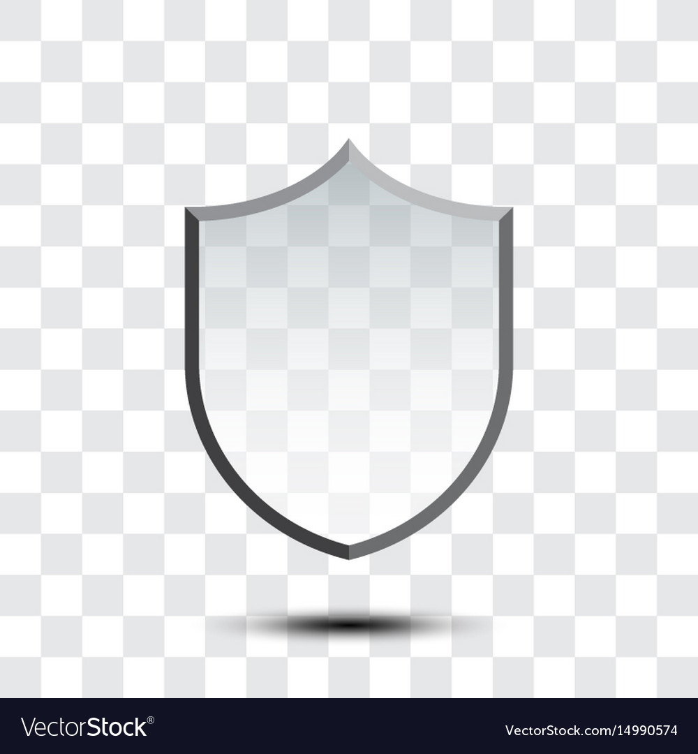 Blank protection shield icon