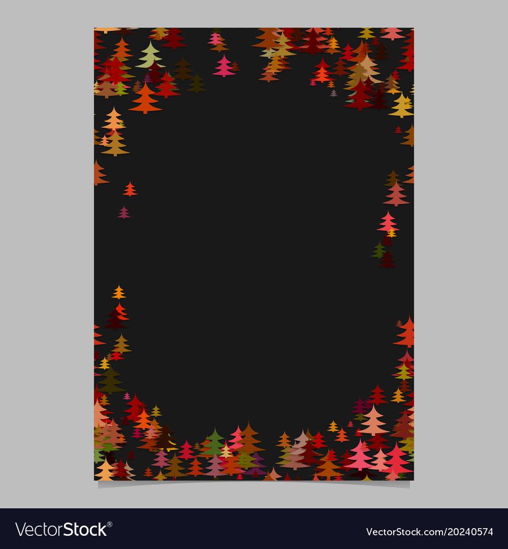 Color abstract random seasonal pine tree card