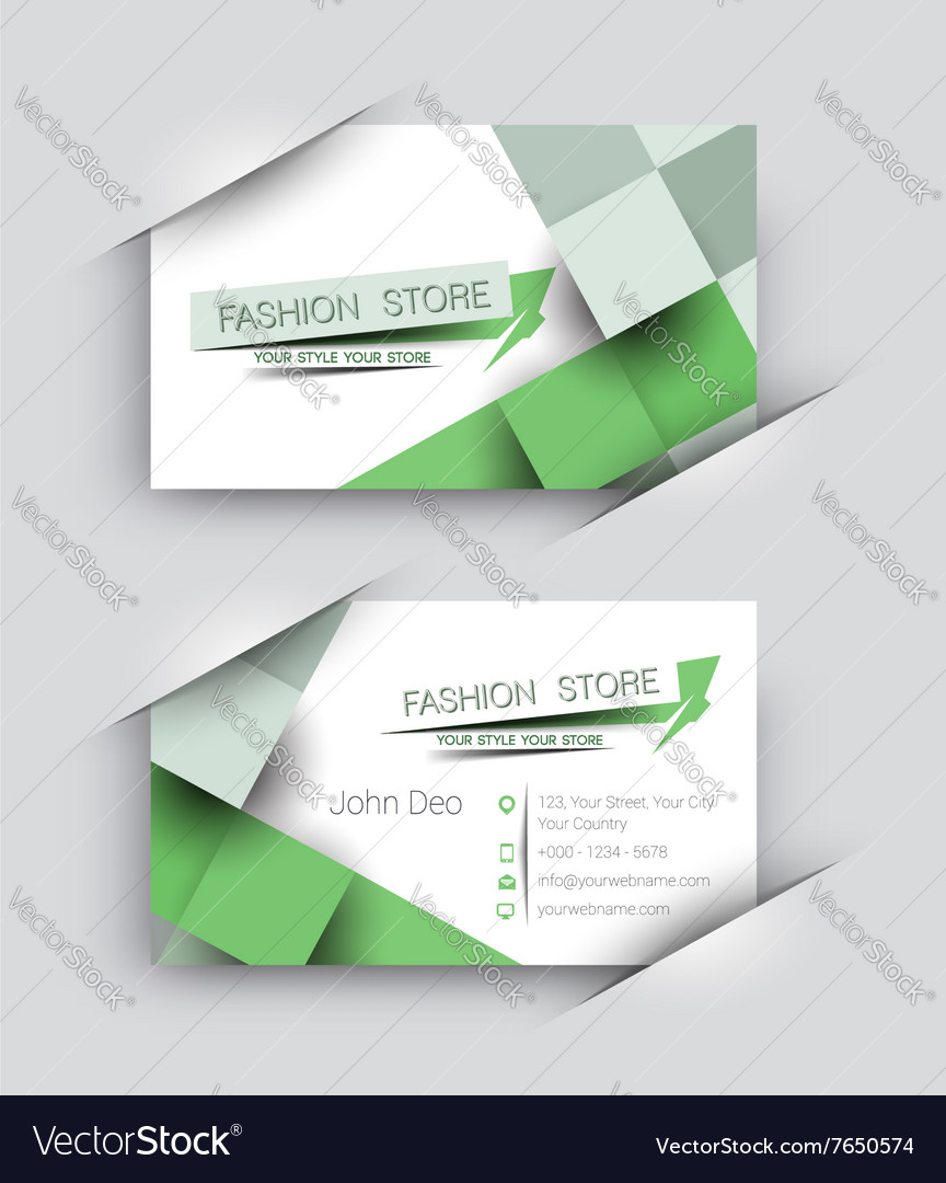 Fashion Store Business Card Set Royalty Free Vector Image
