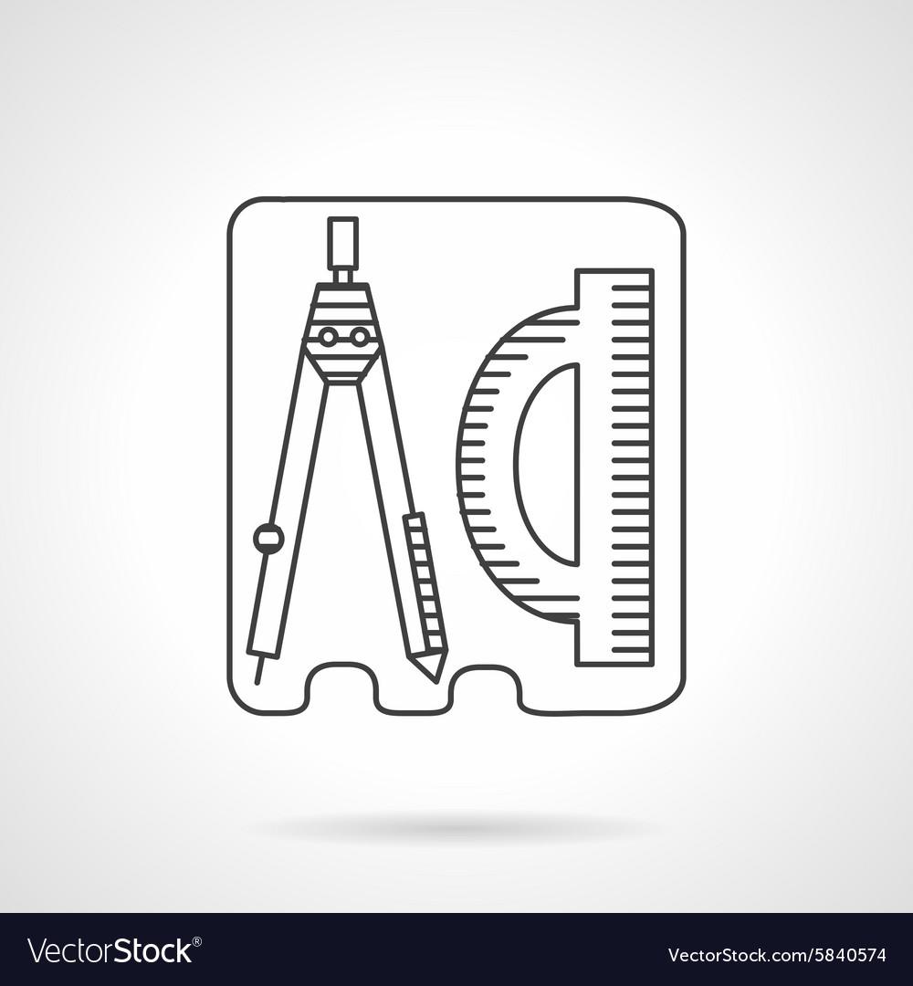Line icon geometry