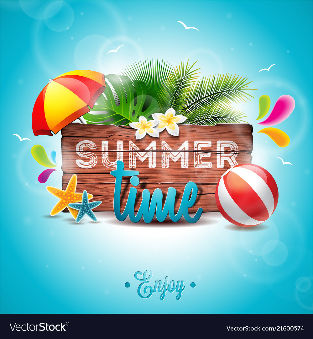 Summer time party holidays invitation flyer poster
