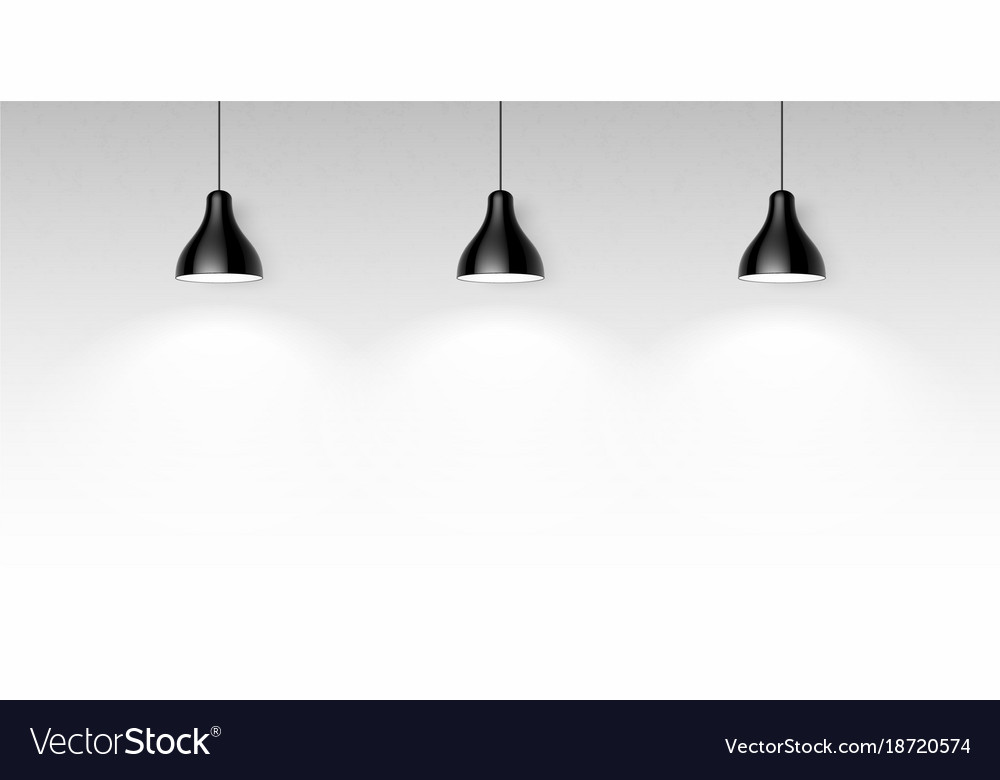 Three Black Hanging Ceiling Lamps