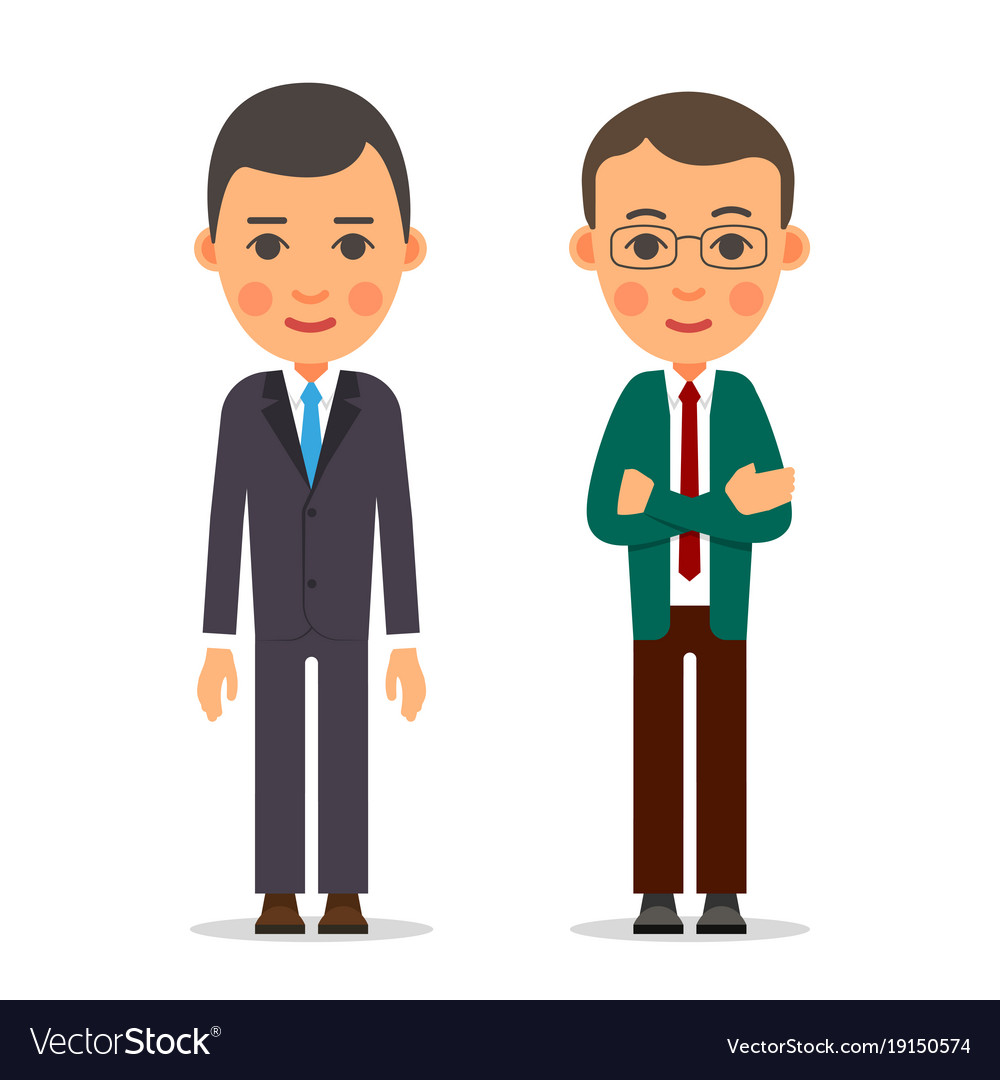 Young business man businessman stands with vector image