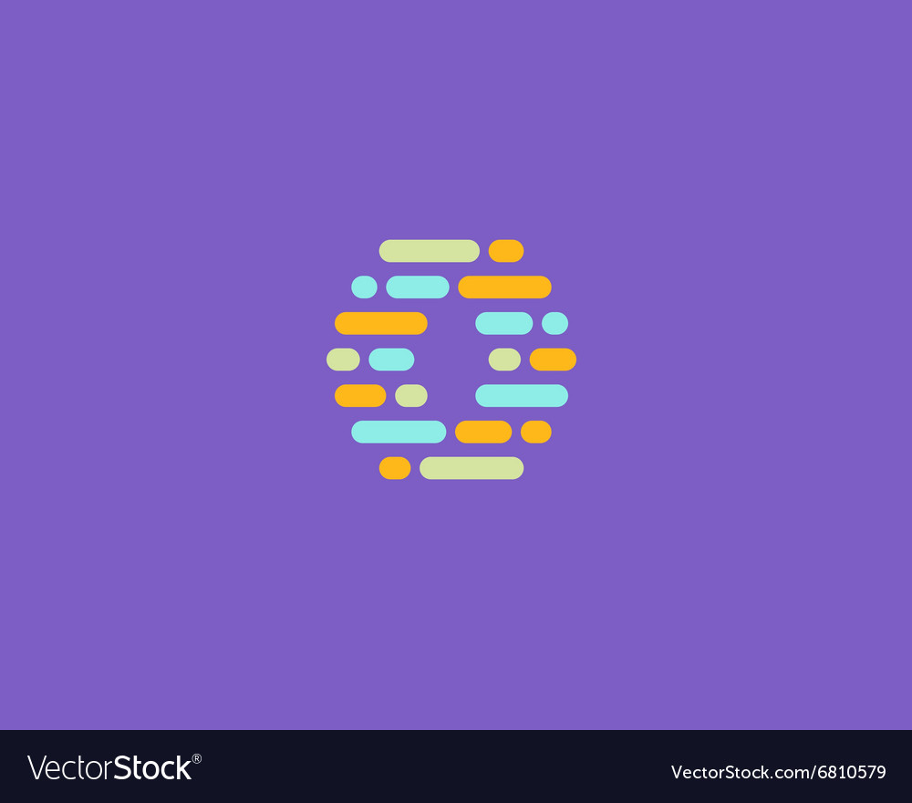 Abstract letter O logo Dynamic code vector image