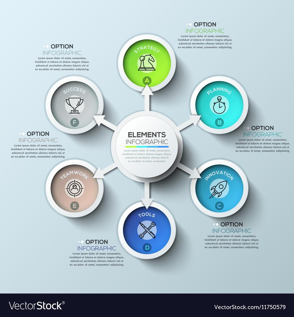 Arrow circle infographics template
