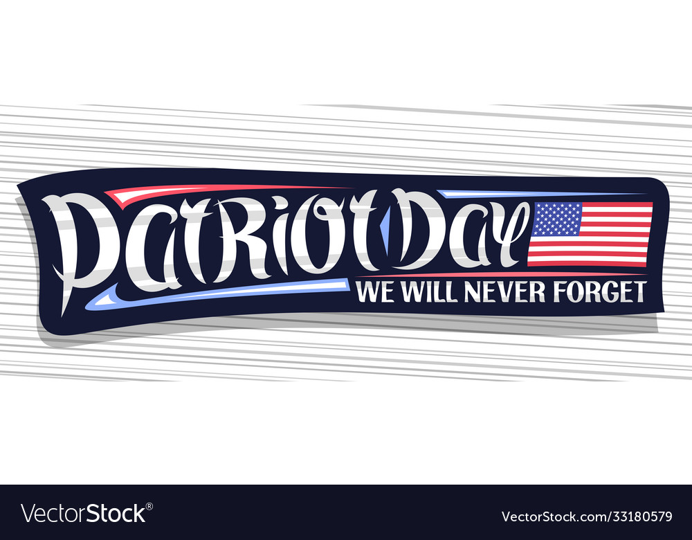 Banner for patriot day