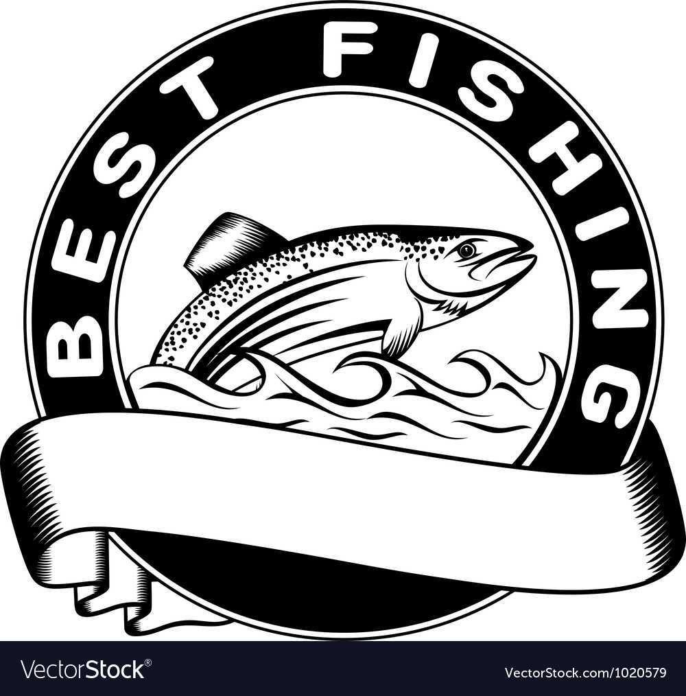 Best fishing vector image