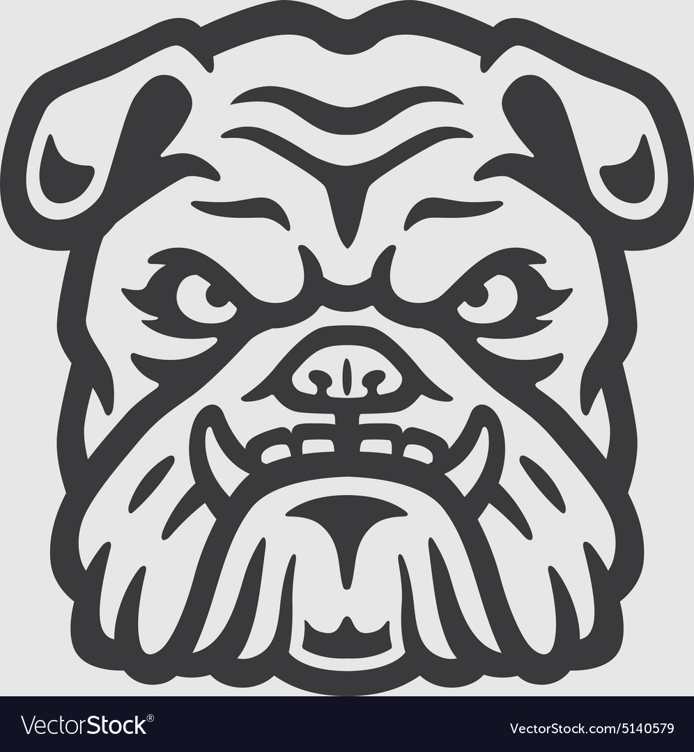 Bulldog Head Logo Mascot Emblem