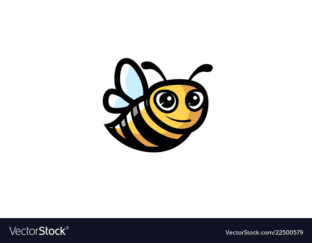 Creative cute little bee logo