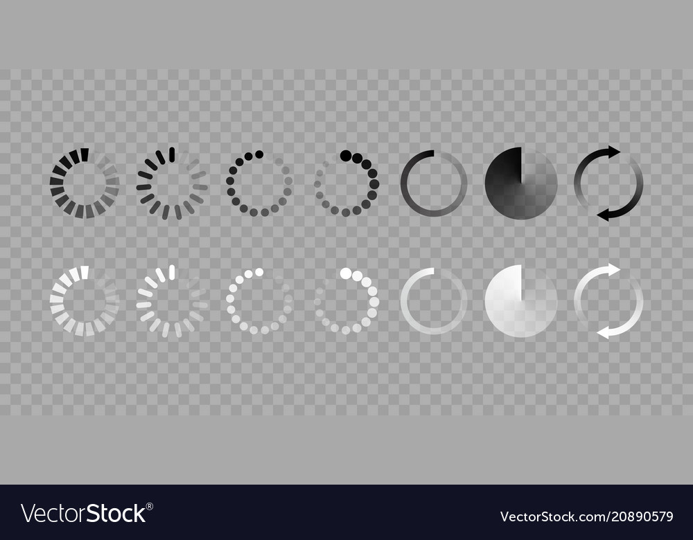 Load icon isolated set
