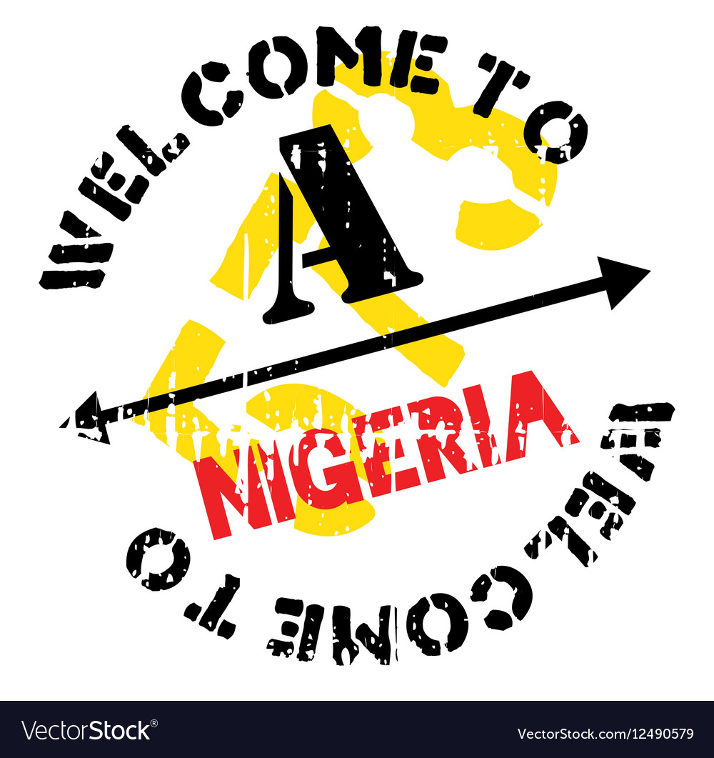 Nigeria stamp rubber grunge