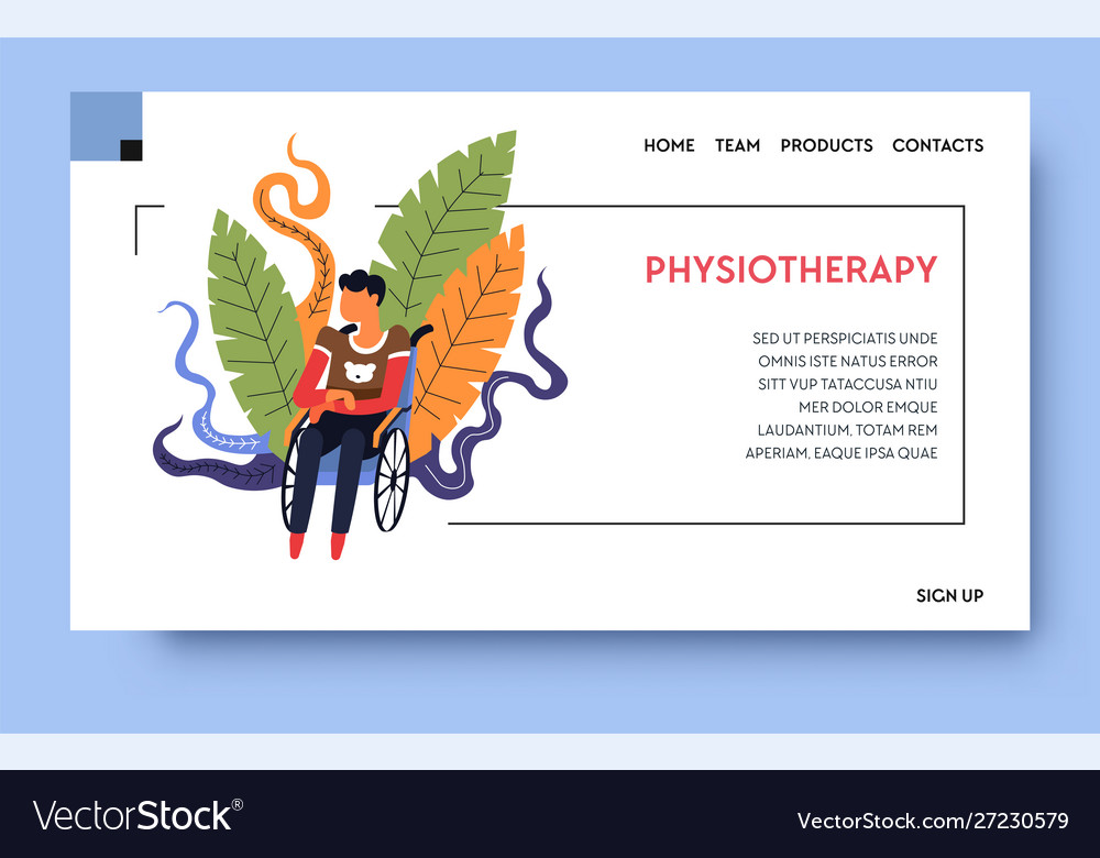 Rehab clinic and physiotherapy patient on