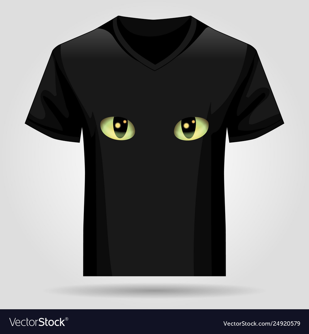 Shirt template with cats eyes