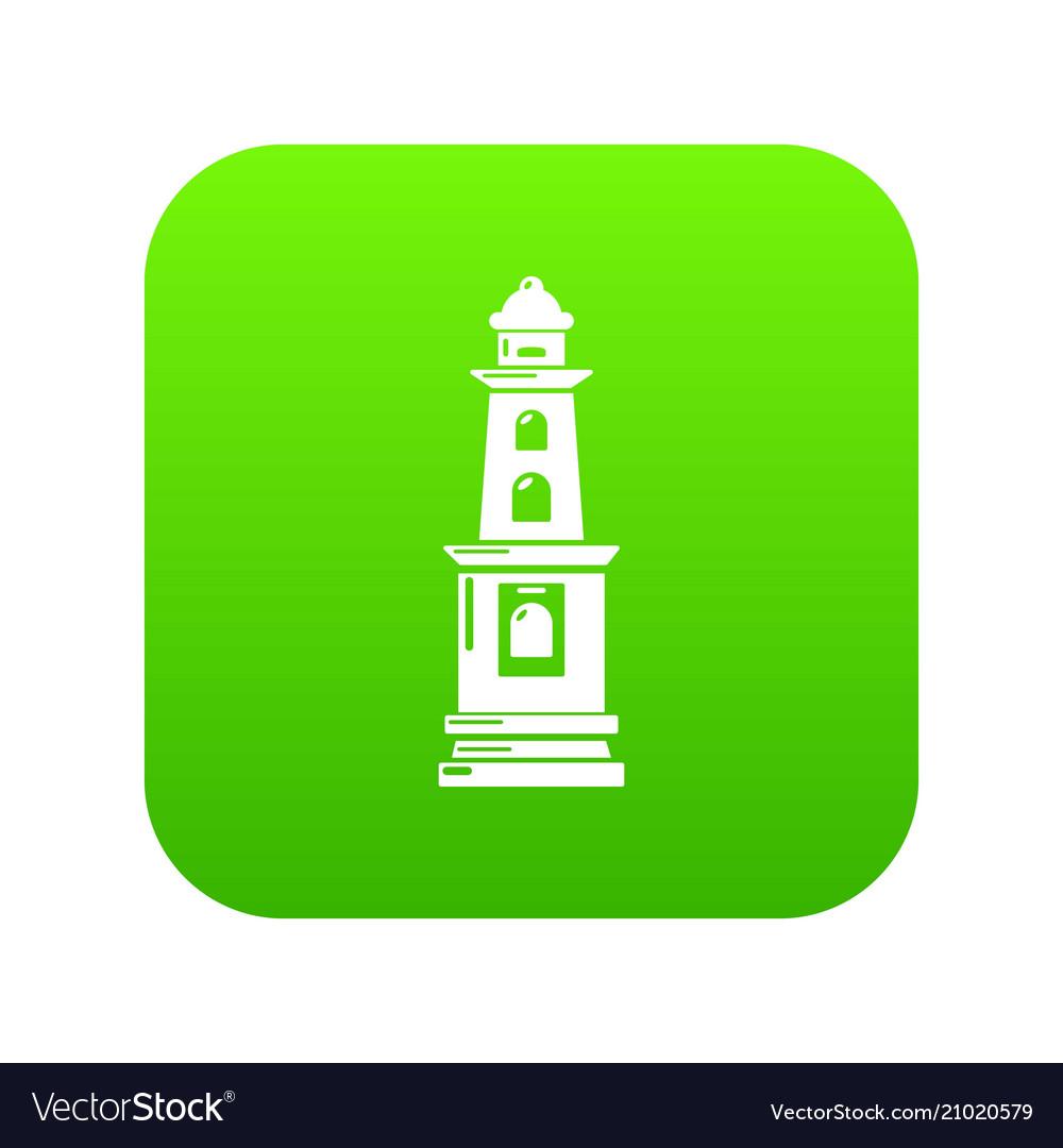 Warning light icon green