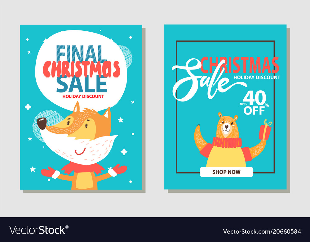 Christmas sale with animals
