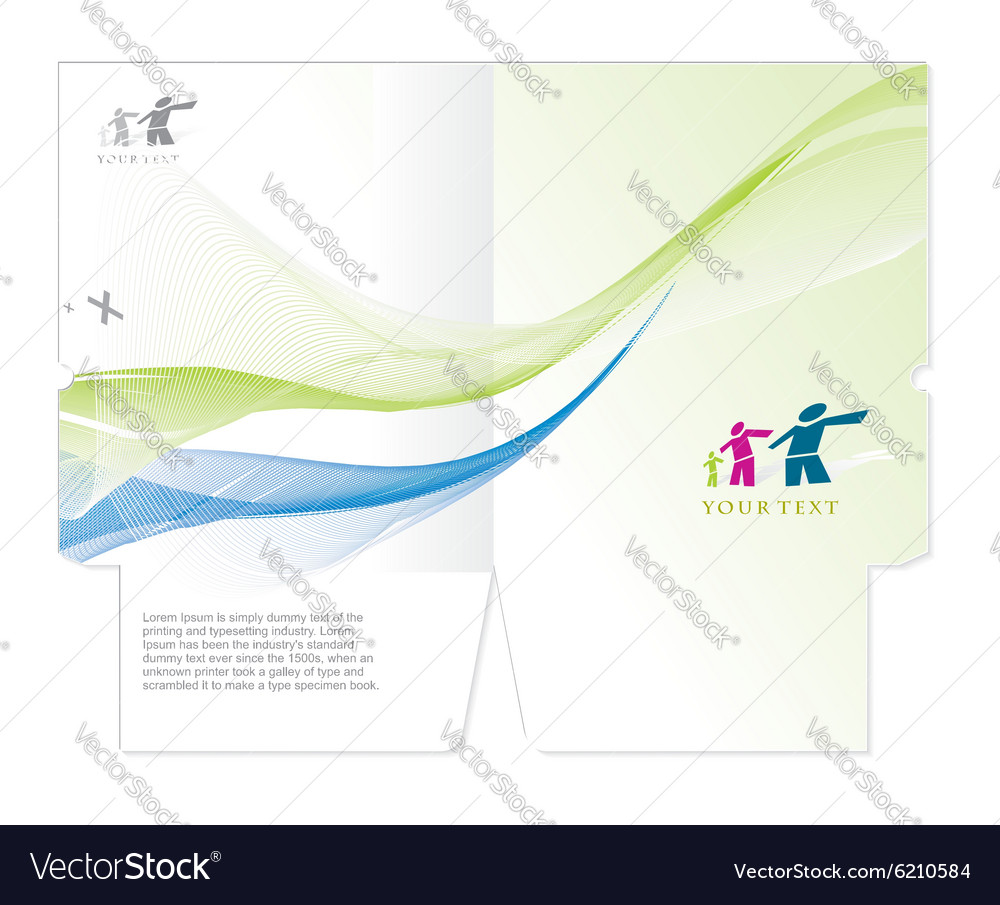 Corporate folder vector image