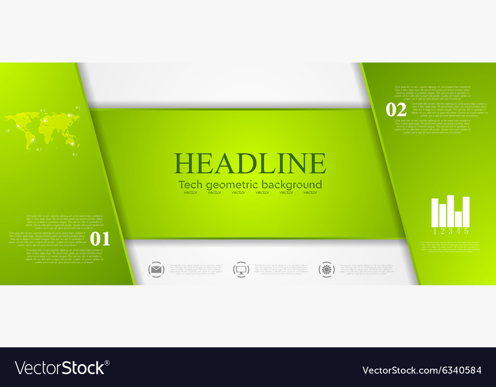 Green tech corporate banner design vector image