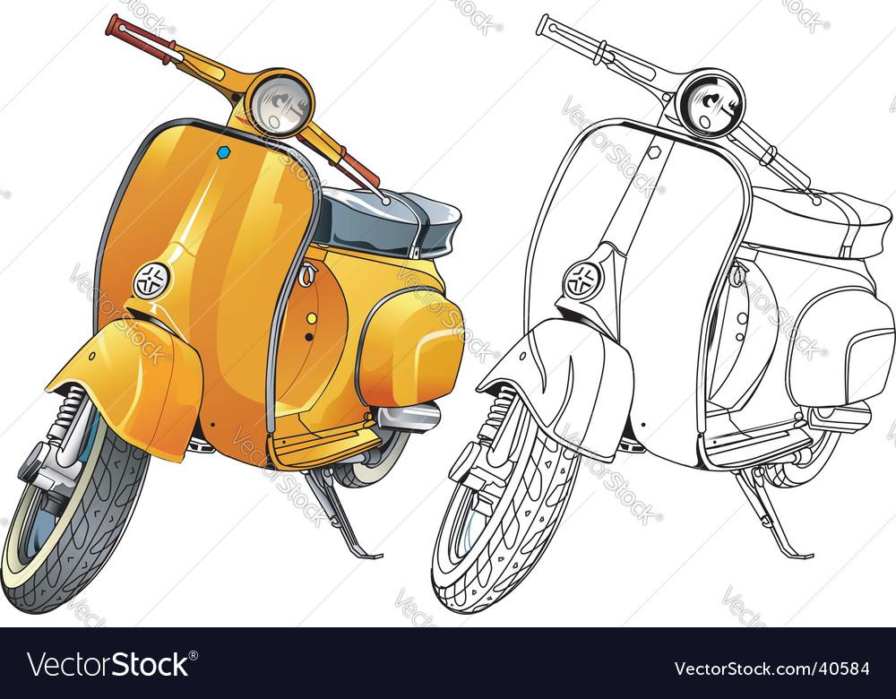 Old vespa vector image