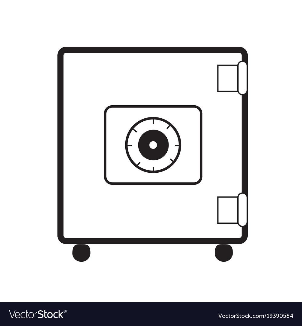Safe icon on white background safe symbol flat