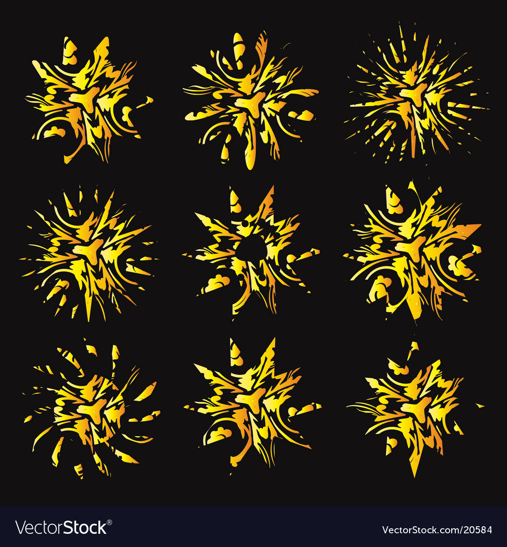 Sunburst illustrations vector image