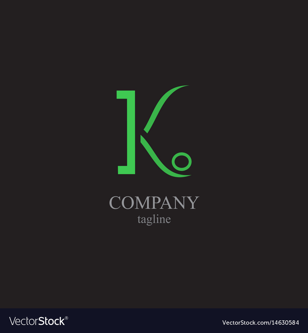 The letter k logo - a symbol of your business vector image