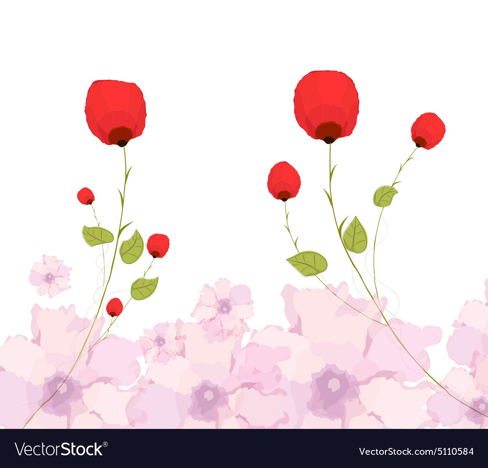 Watercolor Background And Floral Royalty Free Vector Image