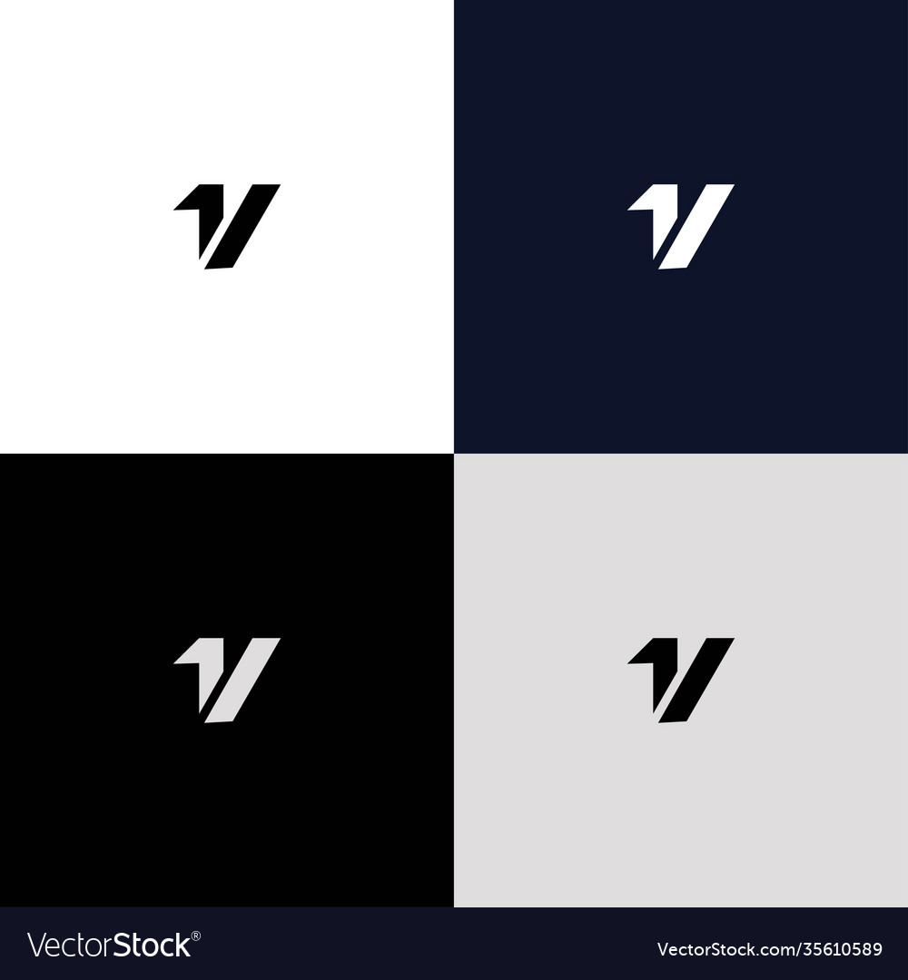 A simple and modern initial 1v logo design 2