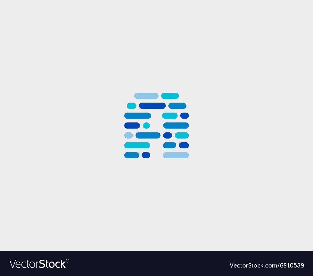Abstract letter A logo Dynamic code vector image