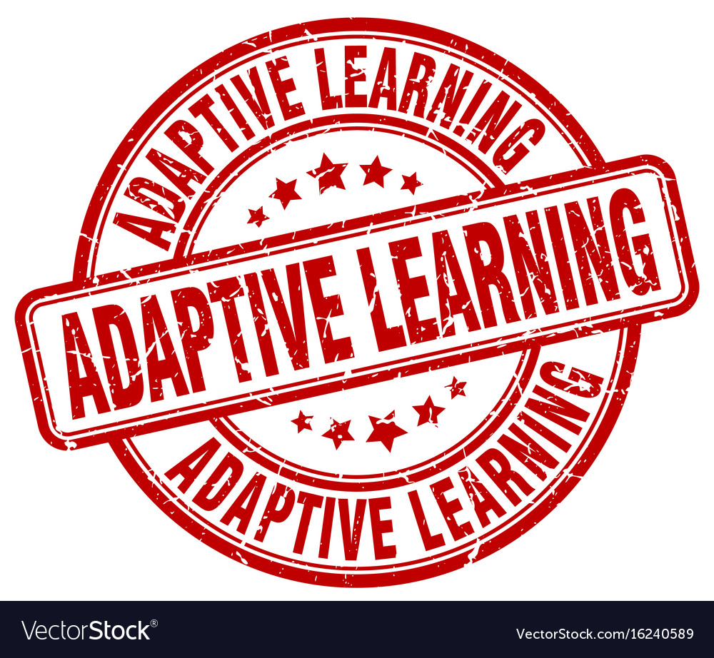 Adaptive learning red grunge stamp